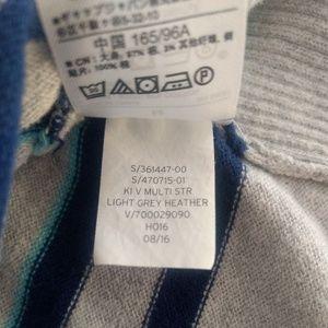 GAP Sweaters - Gap Factory V-neck Heather Grey Striped Sweater